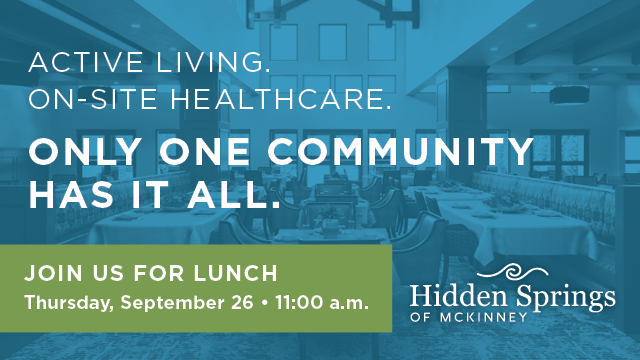 Join us for lunch at Hidden Spring of McKinney