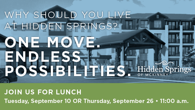 Join us for lunch invite to Hidden Spring of McKinney