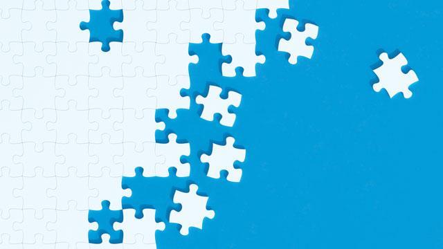 White puzzle pieces.