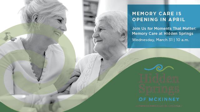 Hidden Springs of McKinney Memory Care banner