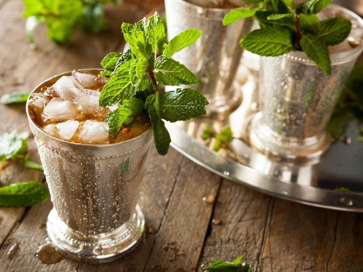 Mint Julep on a pewter tray